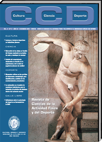 Revista de Ciencias de la Actividad Física y del Deporte