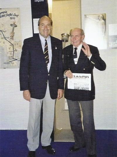 Conrado Durántez con Emil Zatopek